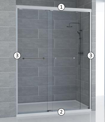 Semi frameless shower screen - Bi Fold Door   Aluminum Door   Bifold ...